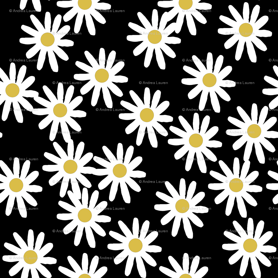 Daisy daisies flowers florals flower black and white simple 90s daisy daisies flowers florals flower black and white simple 90s design fabric andrealauren spoonflower izmirmasajfo