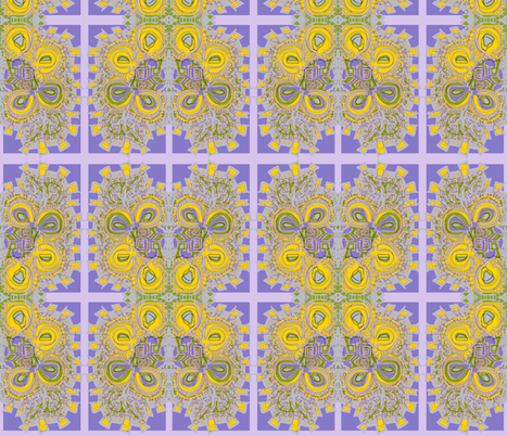 """""""Blooming Connections"""" fabric by elizabethvitale on Spoonflower - custom fabric"""