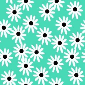 daisies // green light jade tropical green flowers plants summer