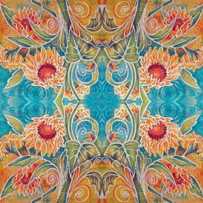 Sunning Flowers Batik