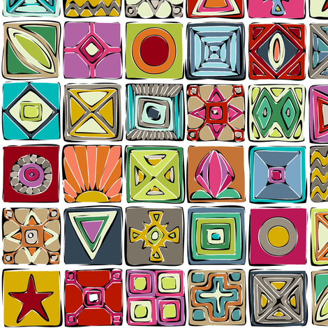 sketchy squares small fabric by scrummy on Spoonflower - custom fabric