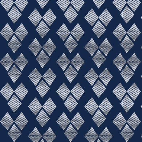 Western Hearts Navy Blue fabric by natitys on Spoonflower - custom fabric