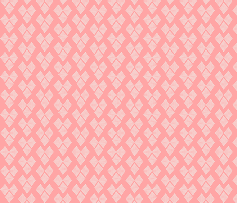 Diamond Hearts in Pink fabric by natitys on Spoonflower - custom fabric