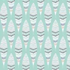 Dandelion Feathers Aqua