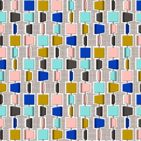 Peekaboo || midcentury modern diamonds texture barkcloth bark cloth vintage Las Vegas atomic geometric architecture interior design screen 3d necklace beads stripes fabric by pennycandy on Spoonflower - custom fabric