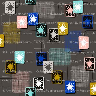 Lady Luck    midcentury modern texture barkcloth bark cloth vintage Las Vegas atomic geometric stars starburst upholstery