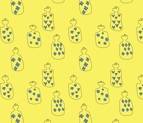Hot Water Bottles fabric by janetdrummond on Spoonflower - custom fabric
