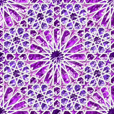 Geometric gemstones (amethyst)