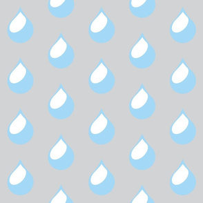 raindrop blue and grey