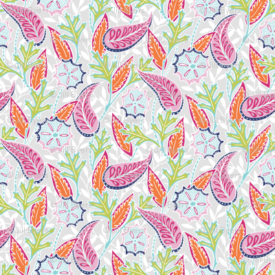 Oak Paisley -  pink