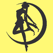 Sailor Moon Silhouette -yellow-