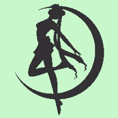 Sailor Moon Silhouette -green-