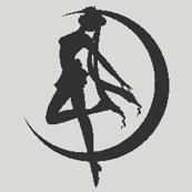 Sailor Moon Silhouette -grey-
