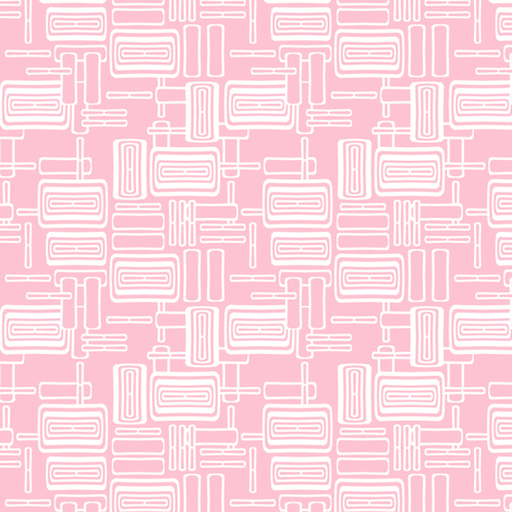 Modern Pink Lozenge coordinate fabric by joanmclemore on Spoonflower - custom fabric