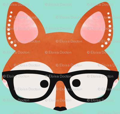 Too Cute Fox Aqua