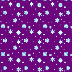 Snowflakes on Violet