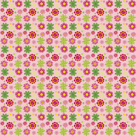 BlytheCon 2014 Pink Background fabric by tinyhaus on Spoonflower - custom fabric