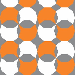 decagon orange - white - gray