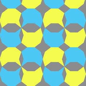 decagon gray/yellow/blue