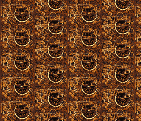 Steampunk browns fabric by phatcatpatch on Spoonflower - custom fabric
