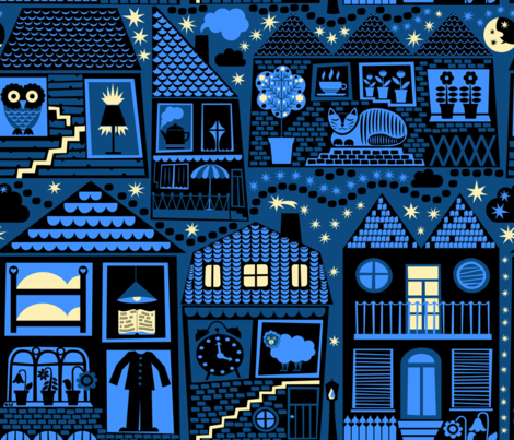 Dream Town fabric by christinewitte on Spoonflower - custom fabric