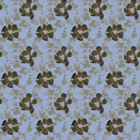 Floral Fling ~ Kentucky ~ Medium fabric by peacoquettedesigns on Spoonflower - custom fabric