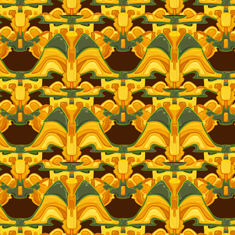 golden idol fabric by mcclept on Spoonflower - custom fabric