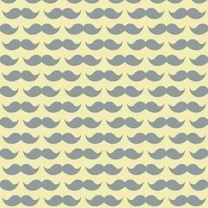 mustache on yellow
