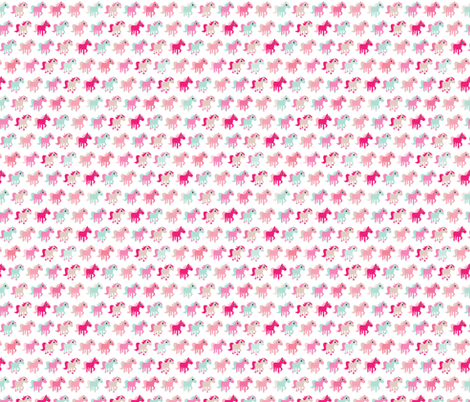 Pink horse girls dream fabric by littlesmilemakers on Spoonflower - custom fabric