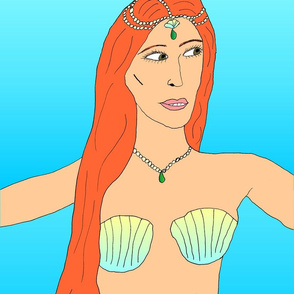 Mermaid with seashell top
