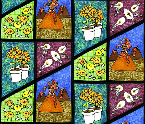 Oh no, Not Another Volcano fabric by edsel2084 on Spoonflower - custom fabric