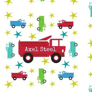 Fire Truck star RED - Personalized  AXEL STEEL