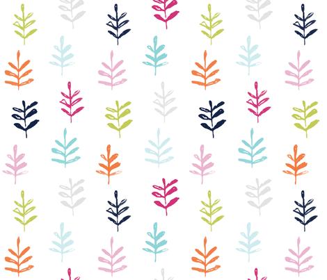 Sprigs colorful fabric by jillbyers on Spoonflower - custom fabric