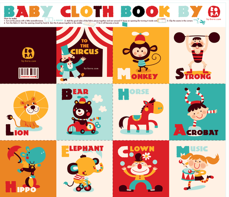 babyclothbook - only the book fabric by bora on Spoonflower - custom fabric