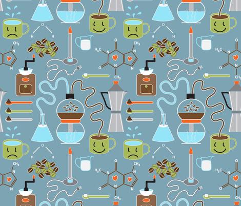 Does coffee = morning happiness?  fabric by vo_aka_virginiao on Spoonflower - custom fabric