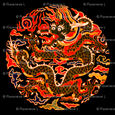 royal orange red novelty thrones embroidery asian japanese china chinese oriental cheongsam kimono dragon clouds fire sun imperial chinoiserie kings queens museum traditional rank regal korean kabuki geisha yuan ming qing dynasty tapestry vintage emperor
