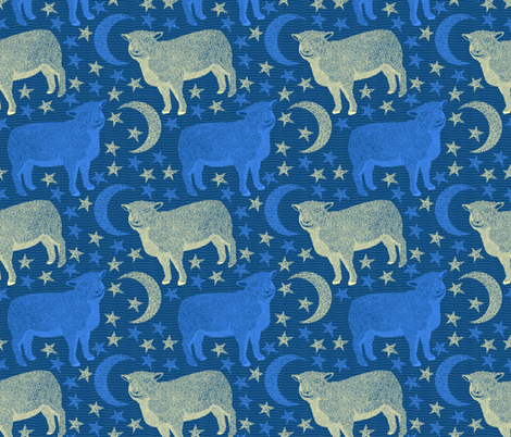 Counting Sheep fabric by rubydoor on Spoonflower - custom fabric