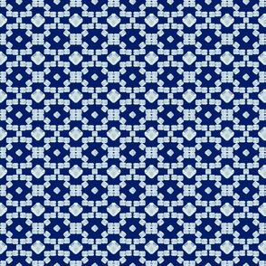 Moroccan diamonds on blue