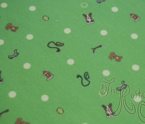 Dog park Ditsy print - green
