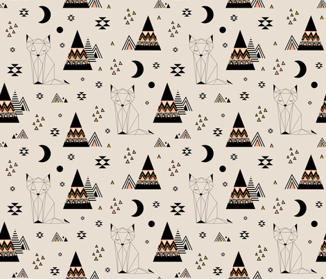Distant Planet (Large) fabric by kimsa on Spoonflower - custom fabric