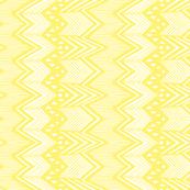 Yellow Hand drawn Chevron