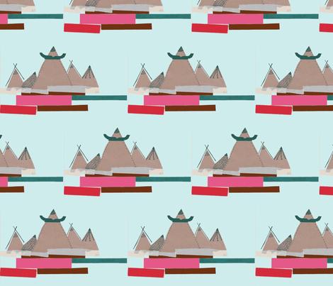 Mountainous fabric by aosborne on Spoonflower - custom fabric