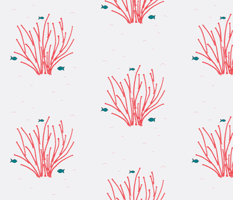 Fiber coral! fabric by janetm on Spoonflower - custom fabric