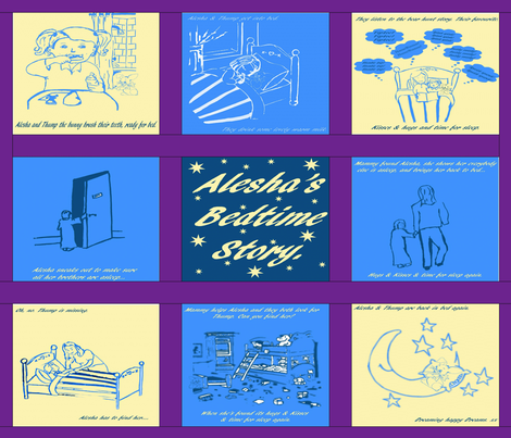Bedtime fabric by sewpersonal_designs on Spoonflower - custom fabric