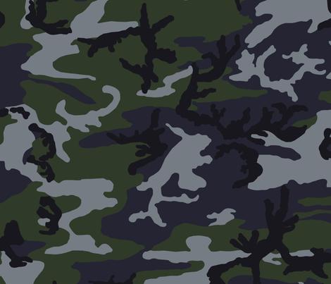 Woodland Night Stalker Camo fabric by ricraynor on Spoonflower - custom fabric