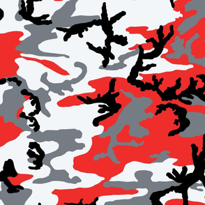Woodland Bright Red Camo