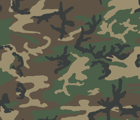 M81 Woodland Camo fabric by ricraynor on Spoonflower - custom fabric