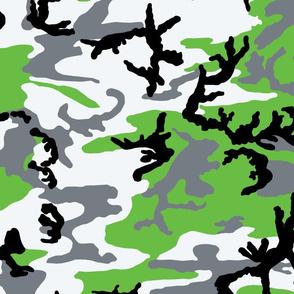 Woodland Zombie Green Camo
