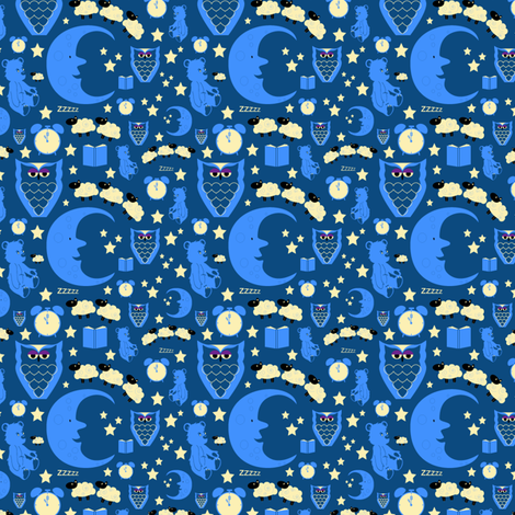 Bedtime Sweet Dreams ditsy fabric by sarah_twist on Spoonflower - custom fabric