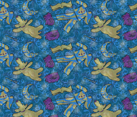 Bedtime Blues fabric by wren_leyland on Spoonflower - custom fabric